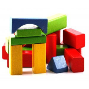 An image of colourful building blocks