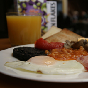 A photograph of an example breakfast