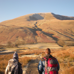 Photograph of two mountain walkers