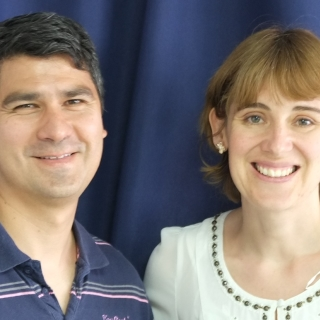 A photograph of Ruth and David Burgos