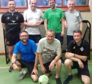 A photograph of some of the men who attend the Men's football group